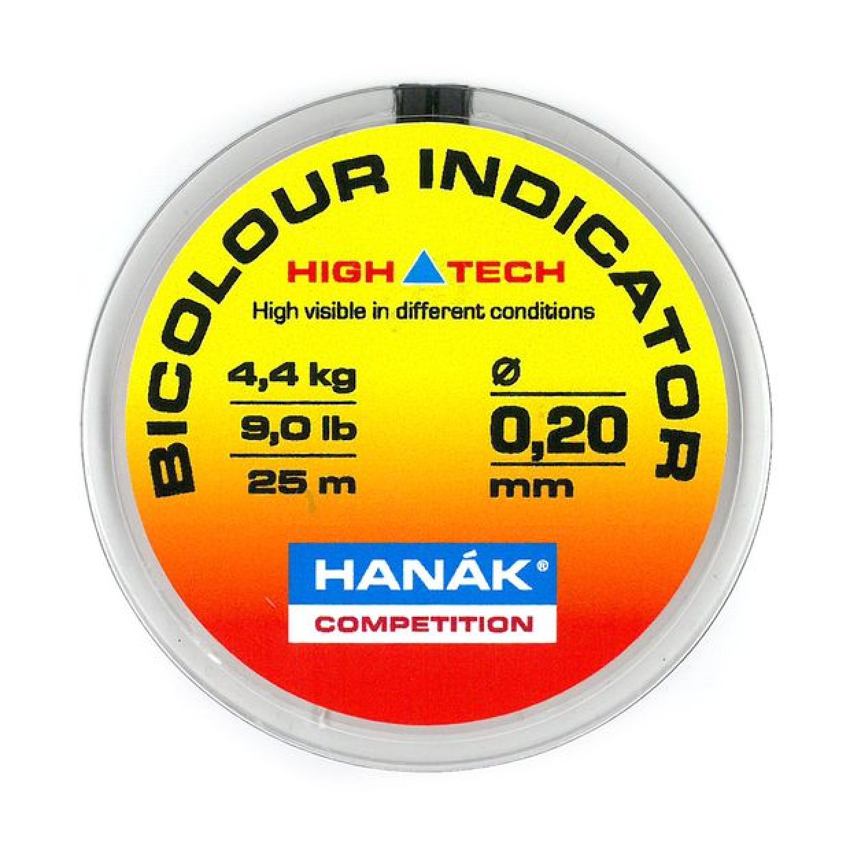 HANÁK Bicolour Indicator Line 25m Yellow/Orange