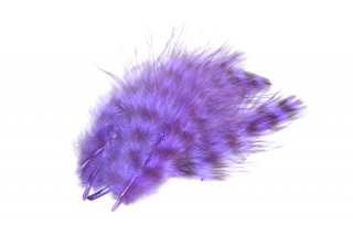 Marabou peří Grizzly Purple