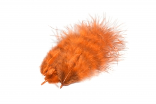 Marabou peří Grizzly Brown Orange