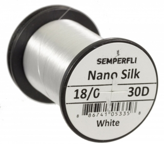 Semperfli Nano Silk Ultra 18/0 White