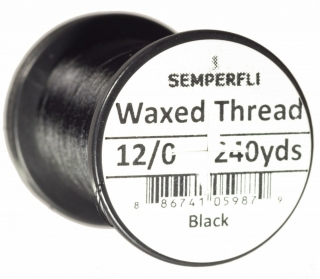 Semperfli Waxed Thread 12/0 Black