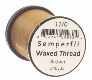 Semperfli Waxed Thread 12/0 Brown