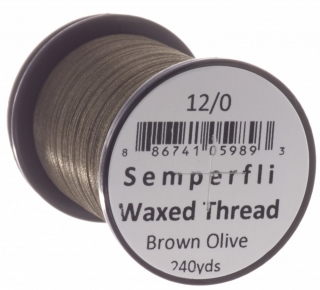 Semperfli Waxed Thread 12/0 Brown Olive