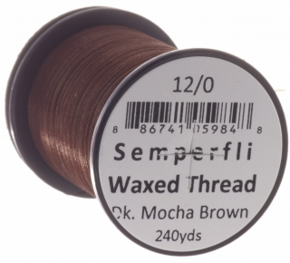 Semperfli Waxed Thread 12/0 Dark Mocha Brown