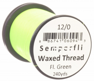 Semperfli Waxed Thread 12/0 Fluoro Green