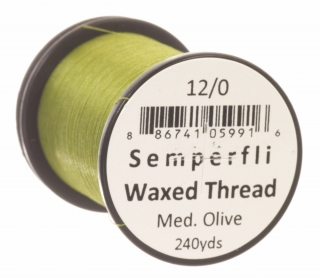 Semperfli Waxed Thread 12/0 Medium Olive