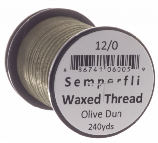 Semperfli Waxed Thread 12/0 Olive Dun