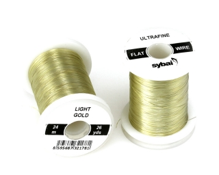 Barevný drátek FLAT Colour Wire Ultrafine Light Gold