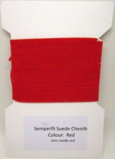 Semperfli Suede Chenille Red