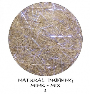 Mink Natural Dubbing mix Magic Blue