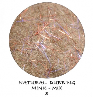 Mink Natural Dubbing mix Magic Red