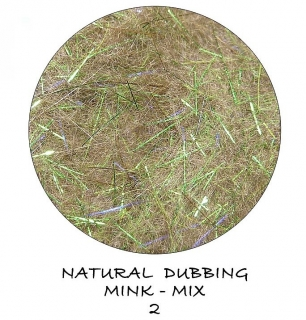 Mink Natural Dubbing mix Magic Green
