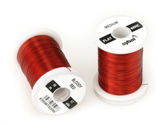 Barevný drátek FLAT Colour Wire Medium Bloody Red