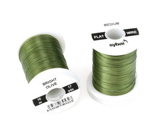 Barevný drátek FLAT Colour Wire Medium Bright Olive