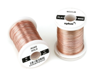 Barevný drátek FLAT Colour Wire Medium Rose Gold
