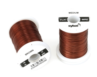 Barevný drátek FLAT Colour Wire Medium Brown