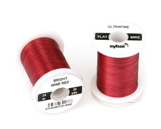 Barevný drátek FLAT Colour Wire Ultrafine Bright Wine Red
