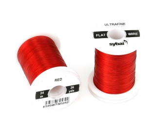 Barevný drátek FLAT Colour Wire Ultrafine Red
