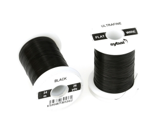 Barevný drátek FLAT Colour Wire Ultrafine Black