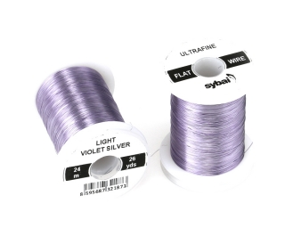 Barevný drátek FLAT Colour Wire Ultrafine Light Violet Silver