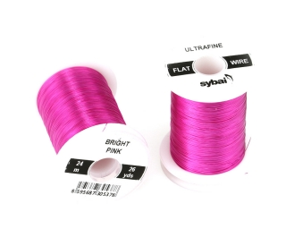 Barevný drátek FLAT Colour Wire Ultrafine Bright Pink