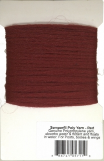 Semperfli Poly Yarn Red