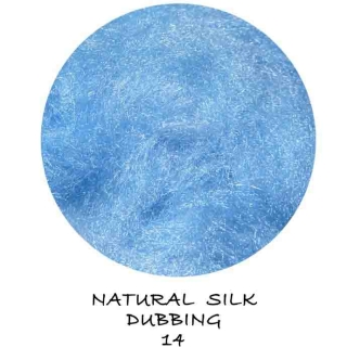 Natural Silk Dubbing Turquoise
