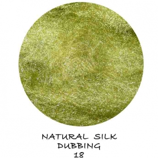 Natural Silk Dubbing Olive