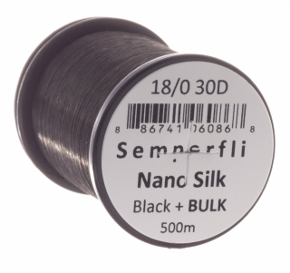 Semperfli Nano Silk Ultra 18/0 500m Black