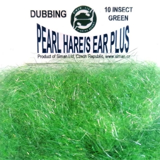 Zaječí dubbing Pearl Hare´s Ear Plus Insect Green
