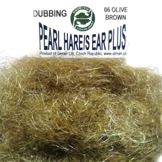 Zaječí dubbing Pearl Hare´s Ear Plus Olive Brown