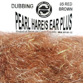 Zaječí dubbing Pearl Hare´s Ear Plus Red Brown
