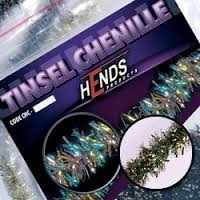 Hends Tinsel Chenille Peacock/Brass
