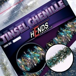 Hends Tinsel Chenille Peacock/Green