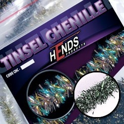 Hends Tinsel Chenille Silver/Pearles