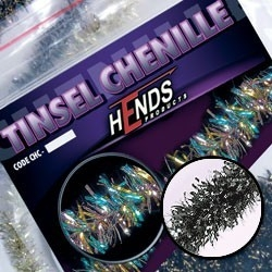 Hends Tinsel Chenille Silver/Black