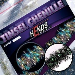 Hends Tinsel Chenille Multicolor Red