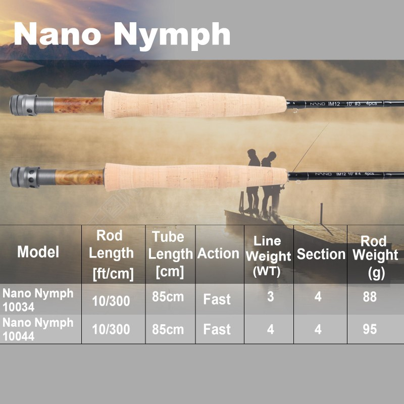 Muškařsky prut Maxcatch Nano French Nymp