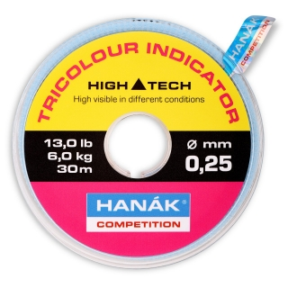 Hanák Tricolour Indicator Line 30m Pink/Black/Yellow